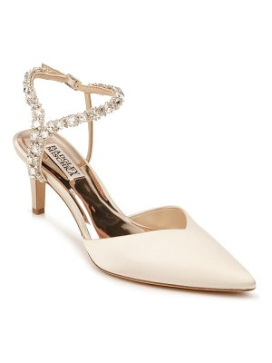 Badgley Mischka Collection badgley mischka galaxy embellished ankle strap pointed toe pump