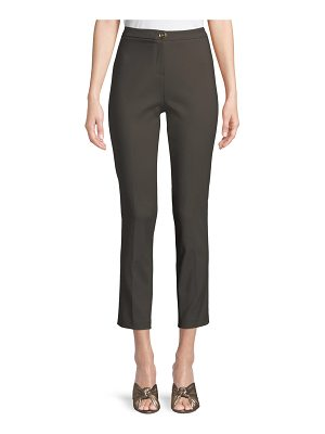 Badgley Mischka Collection Classic Skinny Pants w/ Button Closure