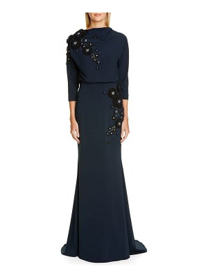 Badgley Mischka Couture badgley mischka couture embellished blouson gown