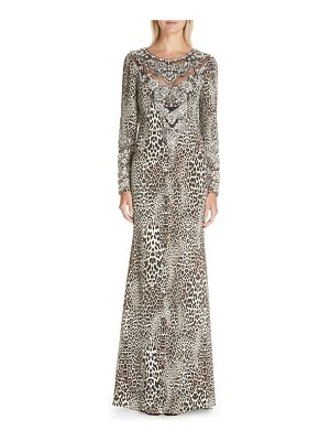Badgley Mischka Couture badgley mischka couture leopard print beaded gown