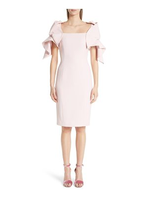 Badgley Mischka couture origami sleeve crepe cocktail dress