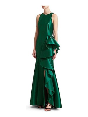 Badgley Mischka drama column gown