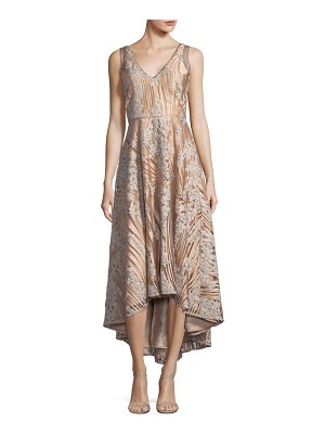 Belle Badgley Mischka Embellished V-Neck Dress