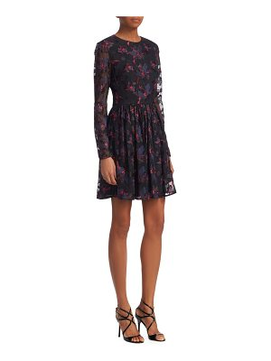 Badgley Mischka embroidered floral cocktail dress