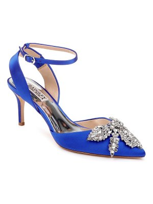 Badgley Mischka fana crystal embellished pump