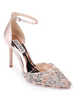 Badgley Mischka fey embellshed ankle strap pump