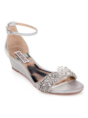 Badgley Mischka fiery embellished ankle strap sandal