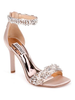 Badgley Mischka fiorenza crystal & imitation pearl embellished sandal