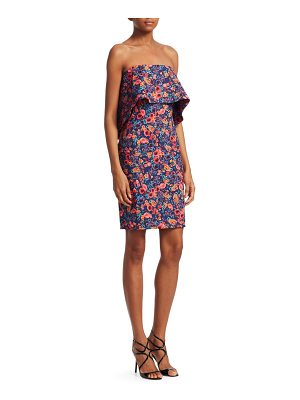 Badgley Mischka floral popover dress