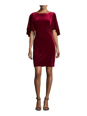 Belle Badgley Mischka Flutter Sleeve Velvet Mini Dress