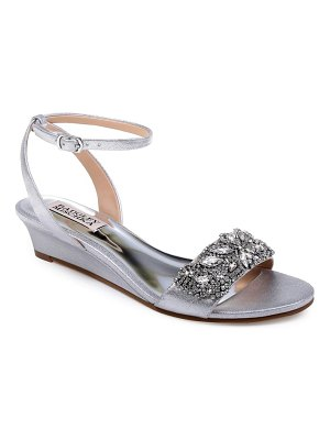 Badgley Mischka hatch crystal embellished sandal