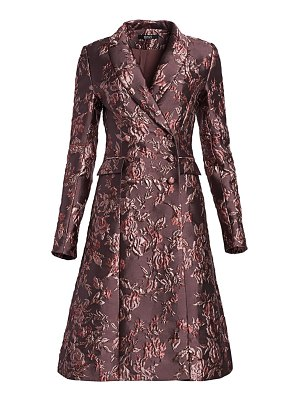 Badgley Mischka jacquard flared jacket dress
