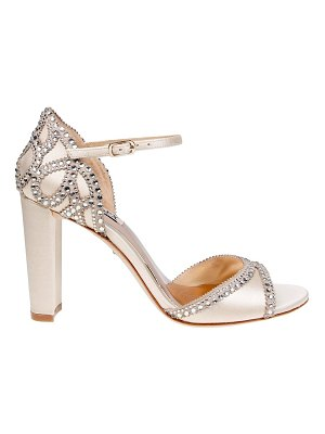 Badgley Mischka Kelly Satin Ankle-Strap Pumps