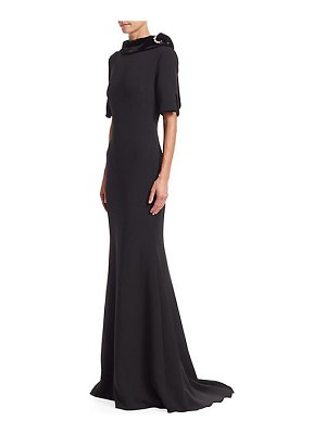 Badgley Mischka mockneck mermaid gown