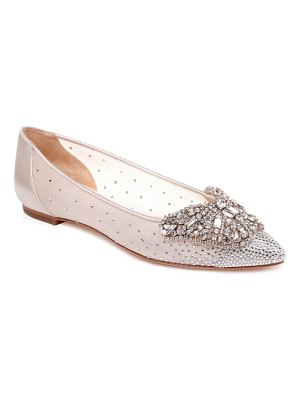 Badgley Mischka Collection quinn embellished pointed toe flat
