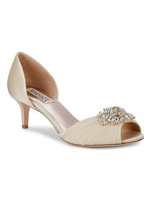 Badgley Mischka Sabine Embellished Peep Toe Pumps
