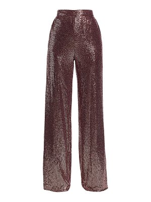 Badgley Mischka sequin wide-leg pants