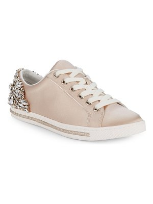 Badgley Mischka Shirley Satin Embellished Sneakers