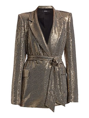 Badgley Mischka slim line sequin jacket