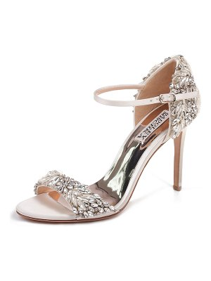 Badgley Mischka Tampa Embellished Satin Sandals