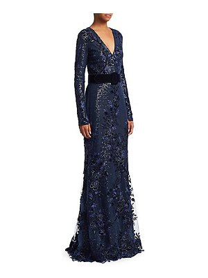 Badgley Mischka velvet sequin gown