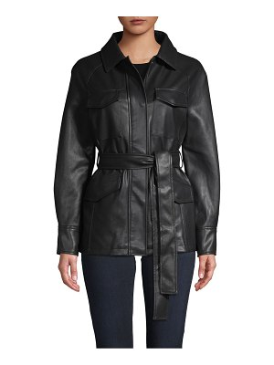 Bagatelle Belted Faux Leather Jacket