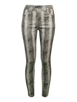 Bagatelle Coated Snake-Print Pants