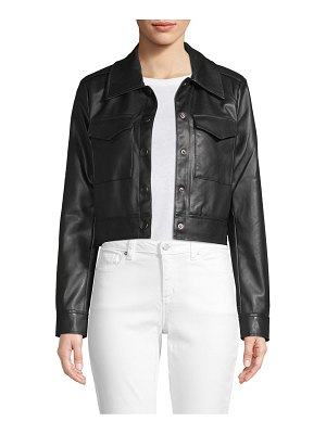 Bagatelle Cropped Faux Leather Jacket