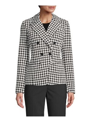 Bagatelle Double-Breasted Houndstooth Blazer