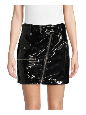 Bagatelle Faux Leather Belted Skirt