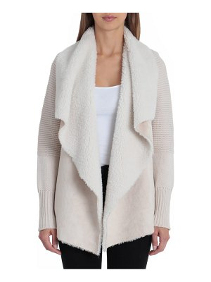 Bagatelle faux shearling & knit jacket