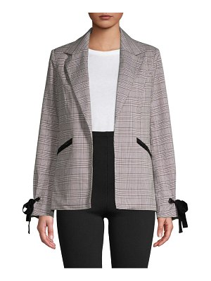 Bagatelle Plaid Open-Front Blazer