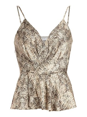 Bailey 44 anabelle snake-print peplum camisole top