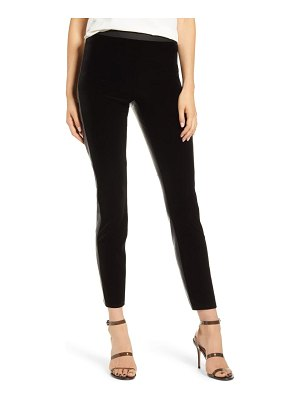 Bailey 44 olivia velvet & faux leather ankle pants