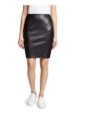 Bailey 44 tolstoy faux leather skirt