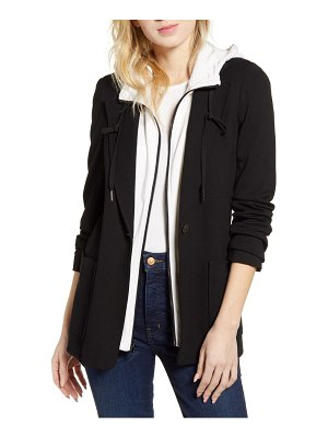 Bailey 44 weldon belted jacket with removable hood