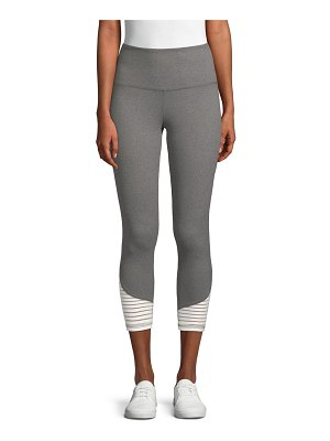Balance Collection Addison Stripe-Paneled Mid-Calf Leggings
