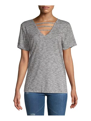 Balance Collection Riley Heathered V-Neck Tee