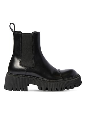 Balenciaga 60mm tractor leather combat boots