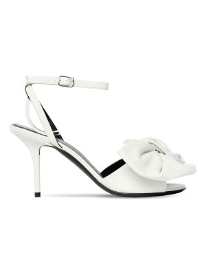 Balenciaga 80mm knife leather sandals w/ bow