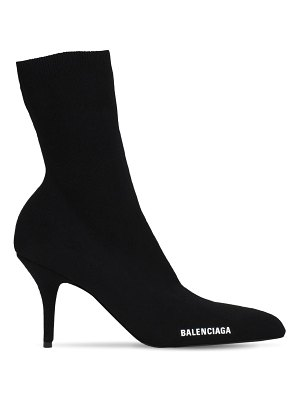 Balenciaga 80mm round knit ankle boots