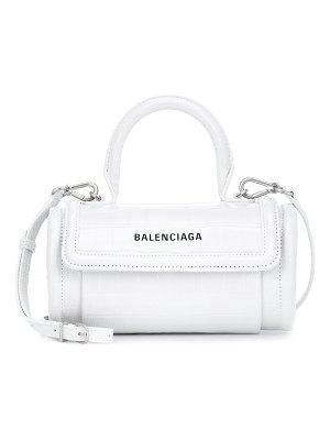 Balenciaga barrel leather shoulder bag