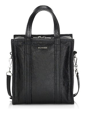 Balenciaga bazar arena leather satchel