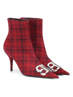 Balenciaga bb checked ankle boots