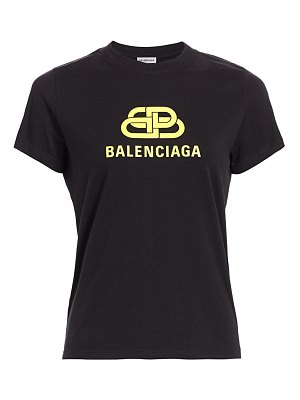 Balenciaga bb fitted cotton t-shirt