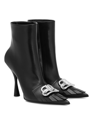 Balenciaga bb knife leather ankle boots