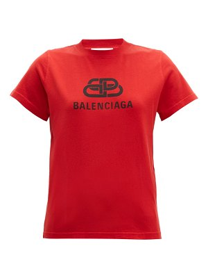 Balenciaga bb logo print cotton t shirt