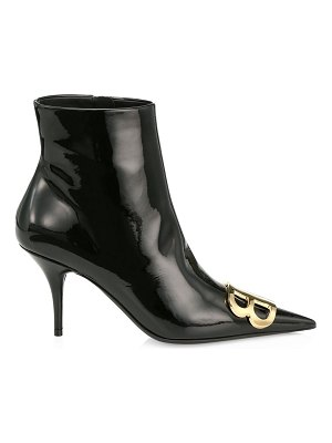 Balenciaga bb patent leather ankle boots