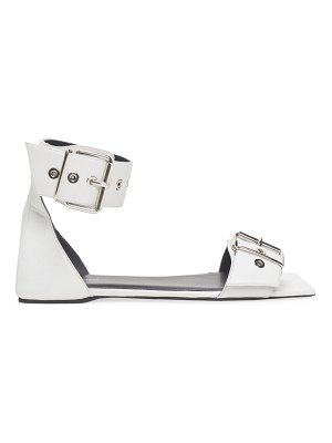 Balenciaga belted leather flat sandals