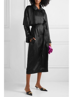 Balenciaga belted silk-satin midi dress